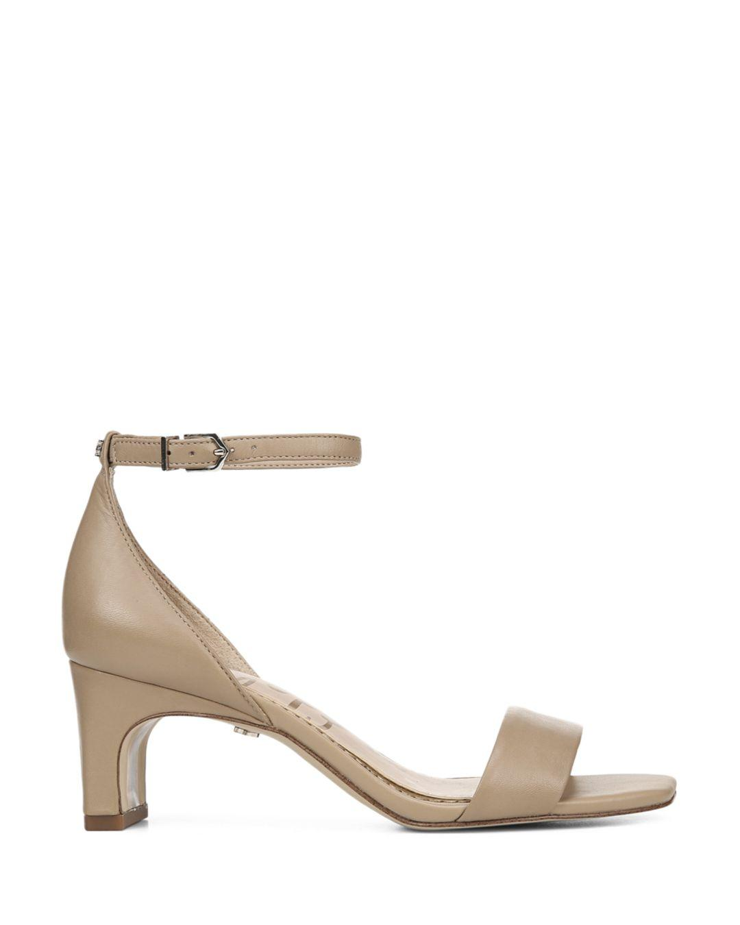 d24b1f115 Lyst - Sam Edelman Women s Holmes Block Heel Sandals in Natural