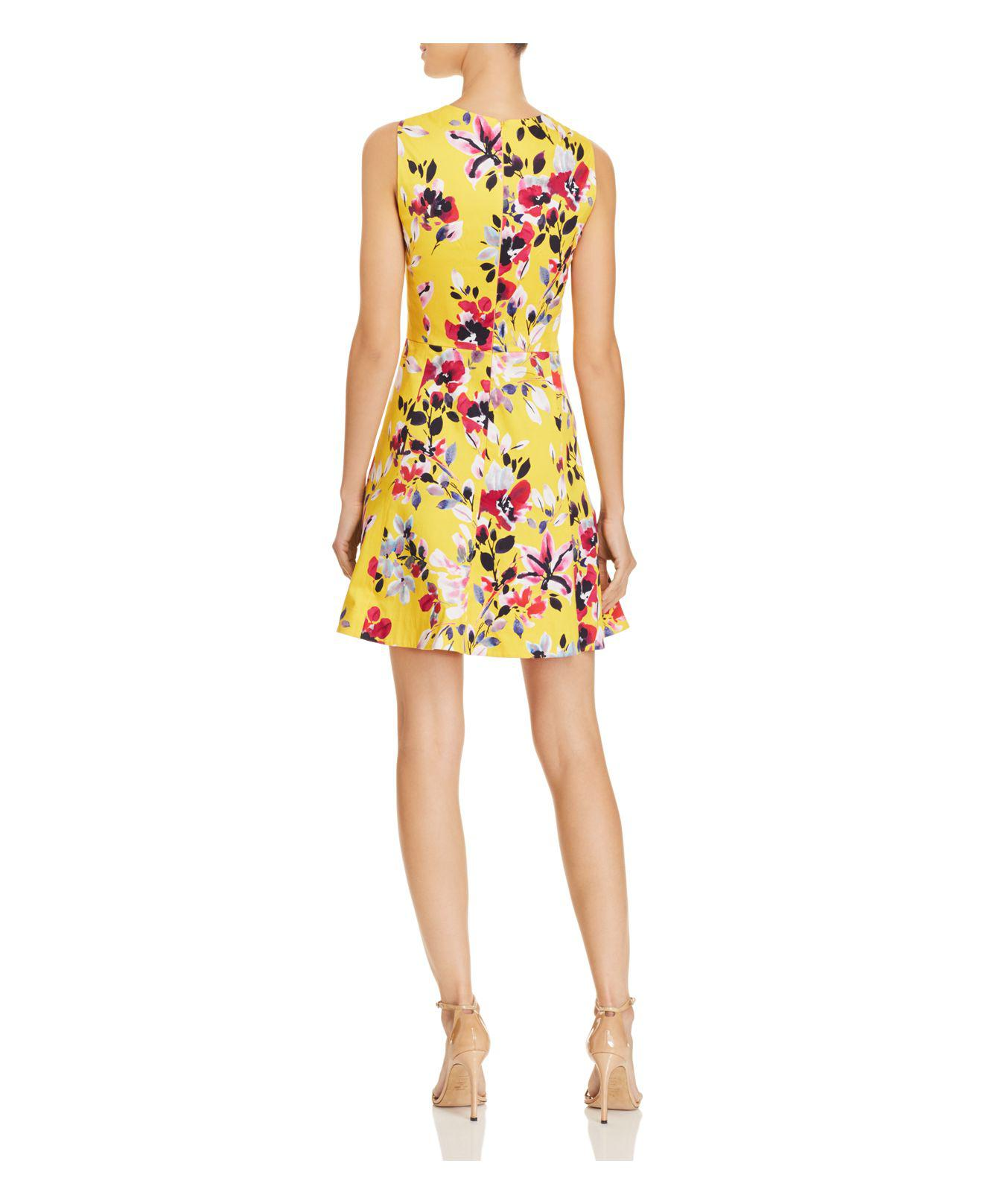 Floral Ruffle Dress - Citrus French Connection eZxD6H