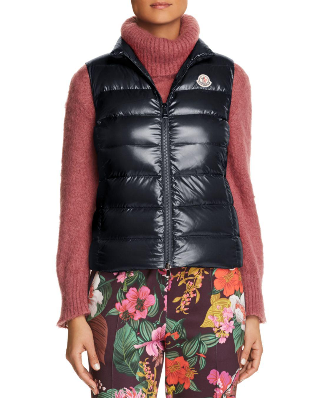 2f00c3665 Lyst - Moncler Ghany Down Vest in Blue