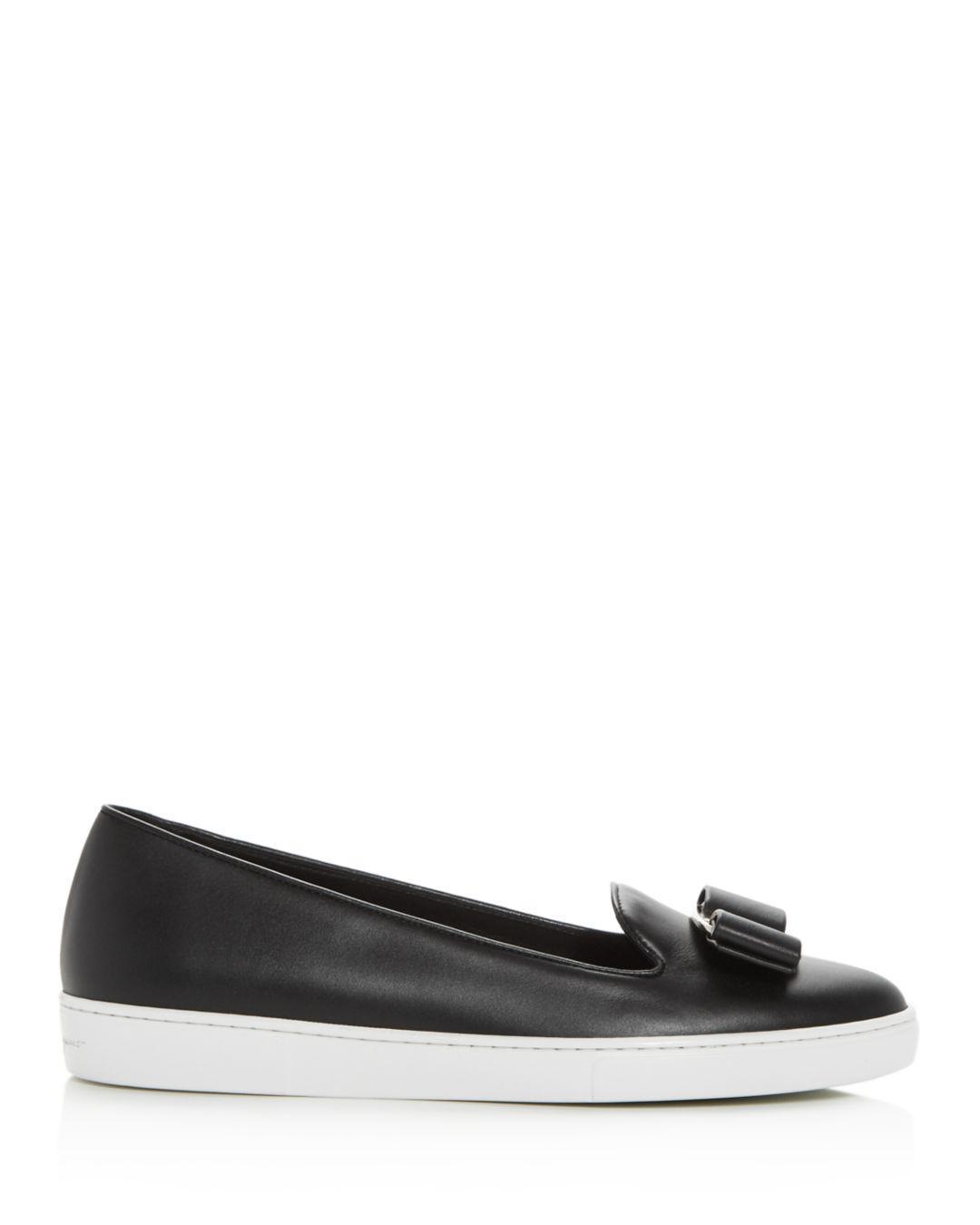 62436f0775 Lyst - Ferragamo Women s Novello Slip-on Sneakers in Black