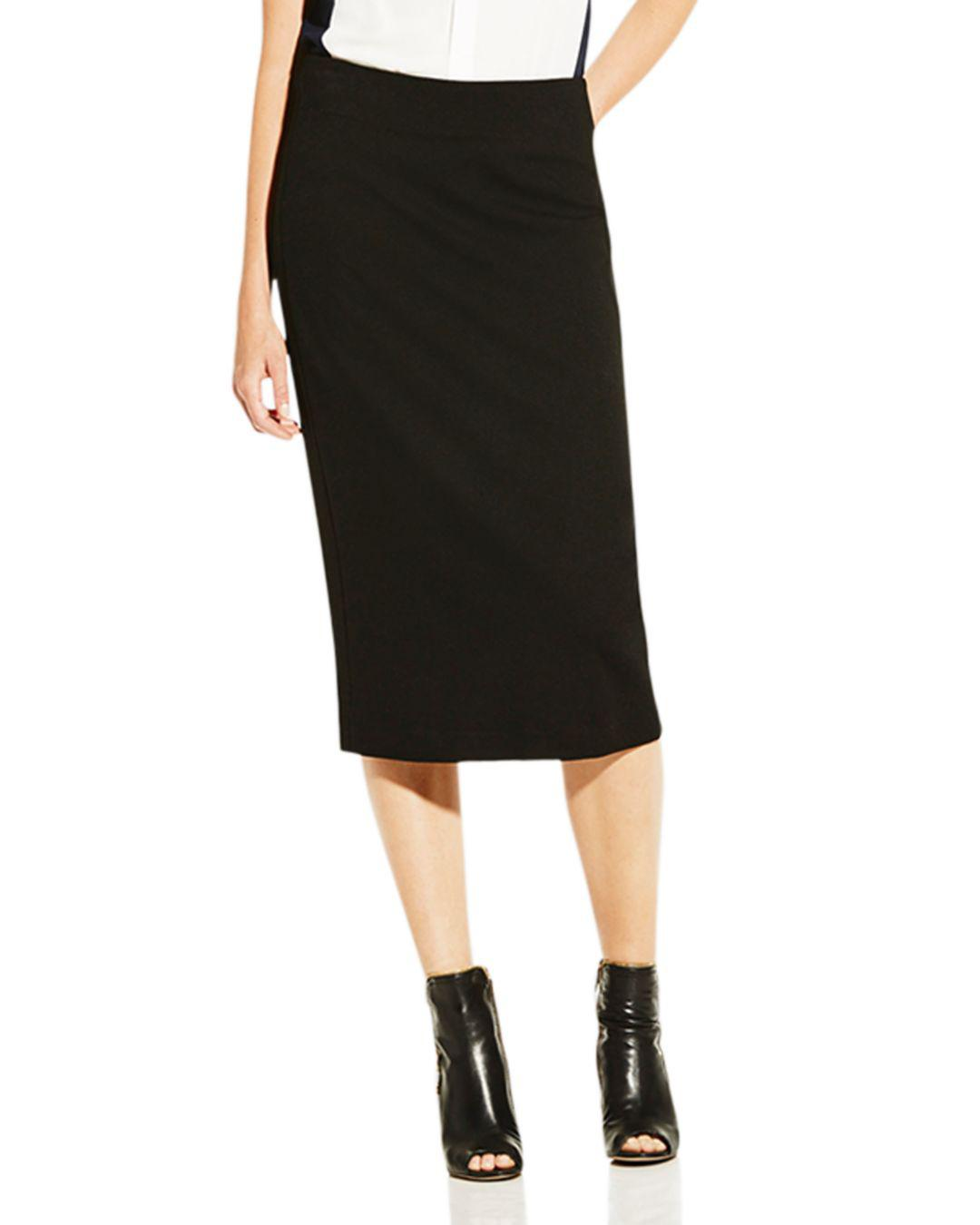 5e23ded845 Lyst - Vince Camuto Petites Ponte Knit Pencil Skirt in Black