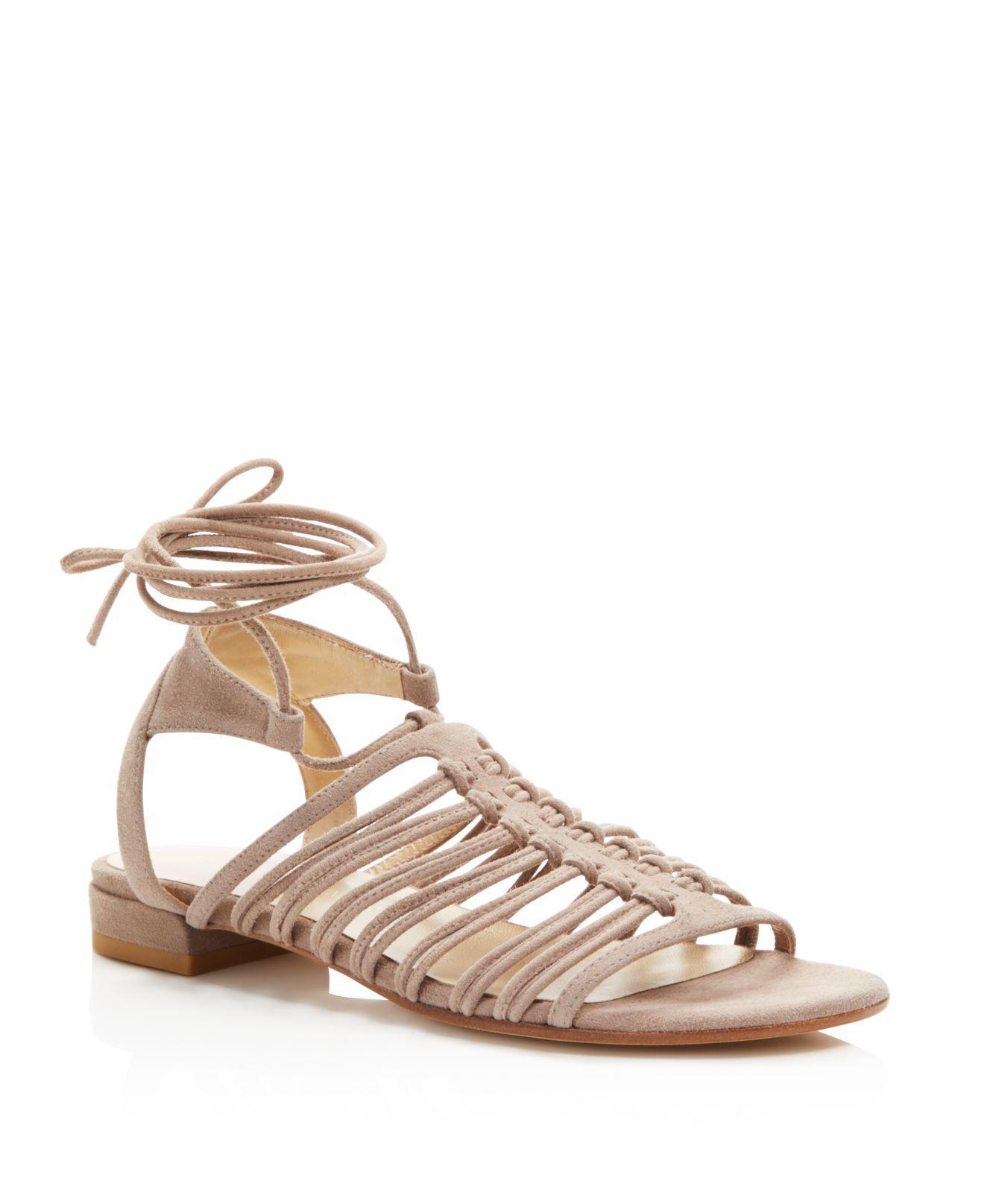 ce81e8df2e2b Lyst - Stuart Weitzman Knotagain Lace Up Sandals