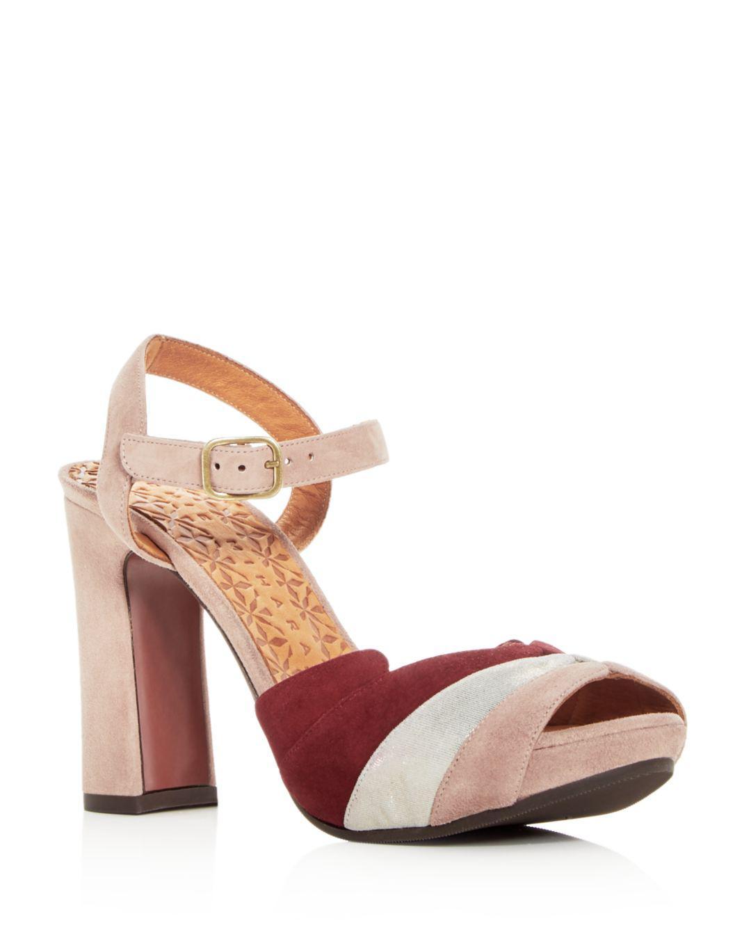 38846568f3d Lyst - Chie Mihara Women s Candel Suede High Block Heel Platform Sandals