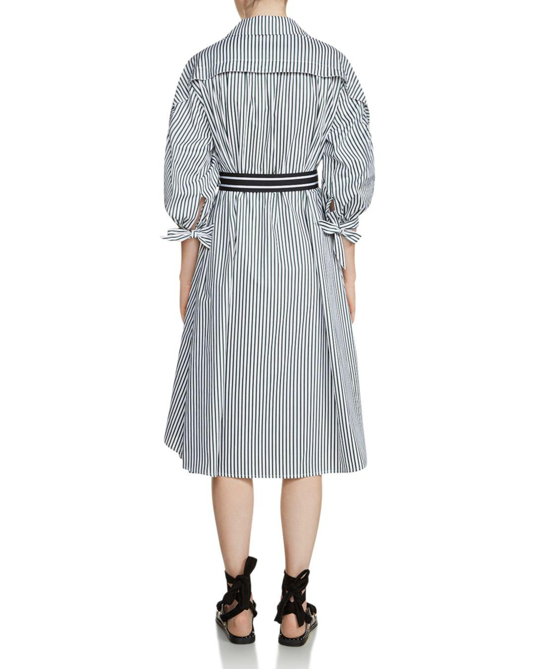 7ea704009b8 Maje Rilucci Oversized Striped Shirt Dress in Gray - Lyst
