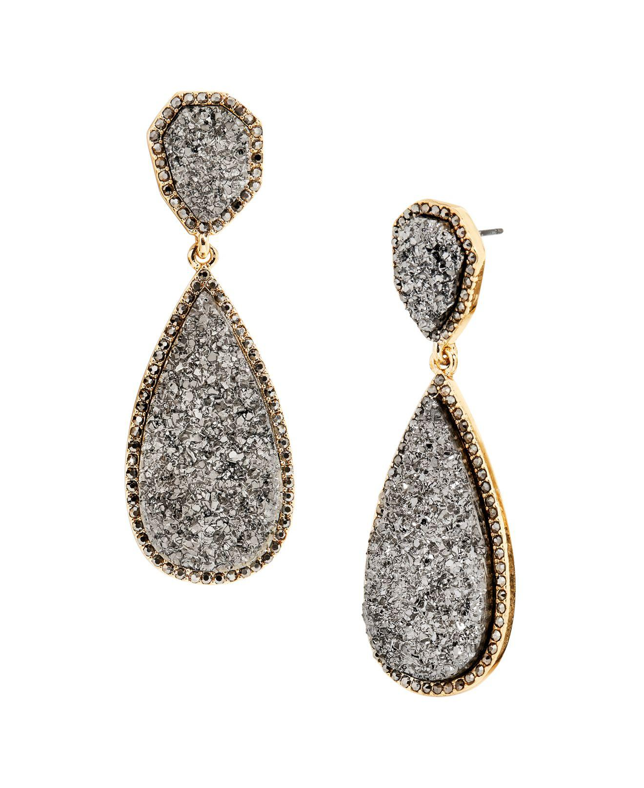 Baublebar Women S Gray Moonlight Druzy Earrings