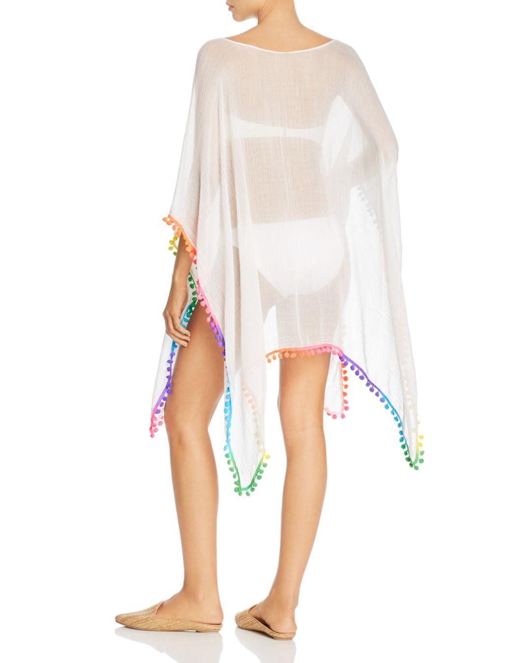 a5c04a2ade Echo Pom-pom Caftan Swim Cover-up in White - Lyst