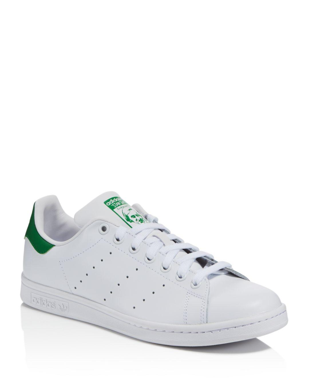82dd77c81200 adidas Men's Stan Smith Leather Low - Top Sneakers in White for Men - Lyst