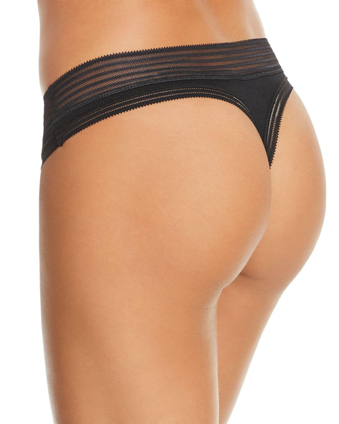3959c6b7f62 Lyst - Calvin Klein Stretch Modal Thong in Black - Save 15%