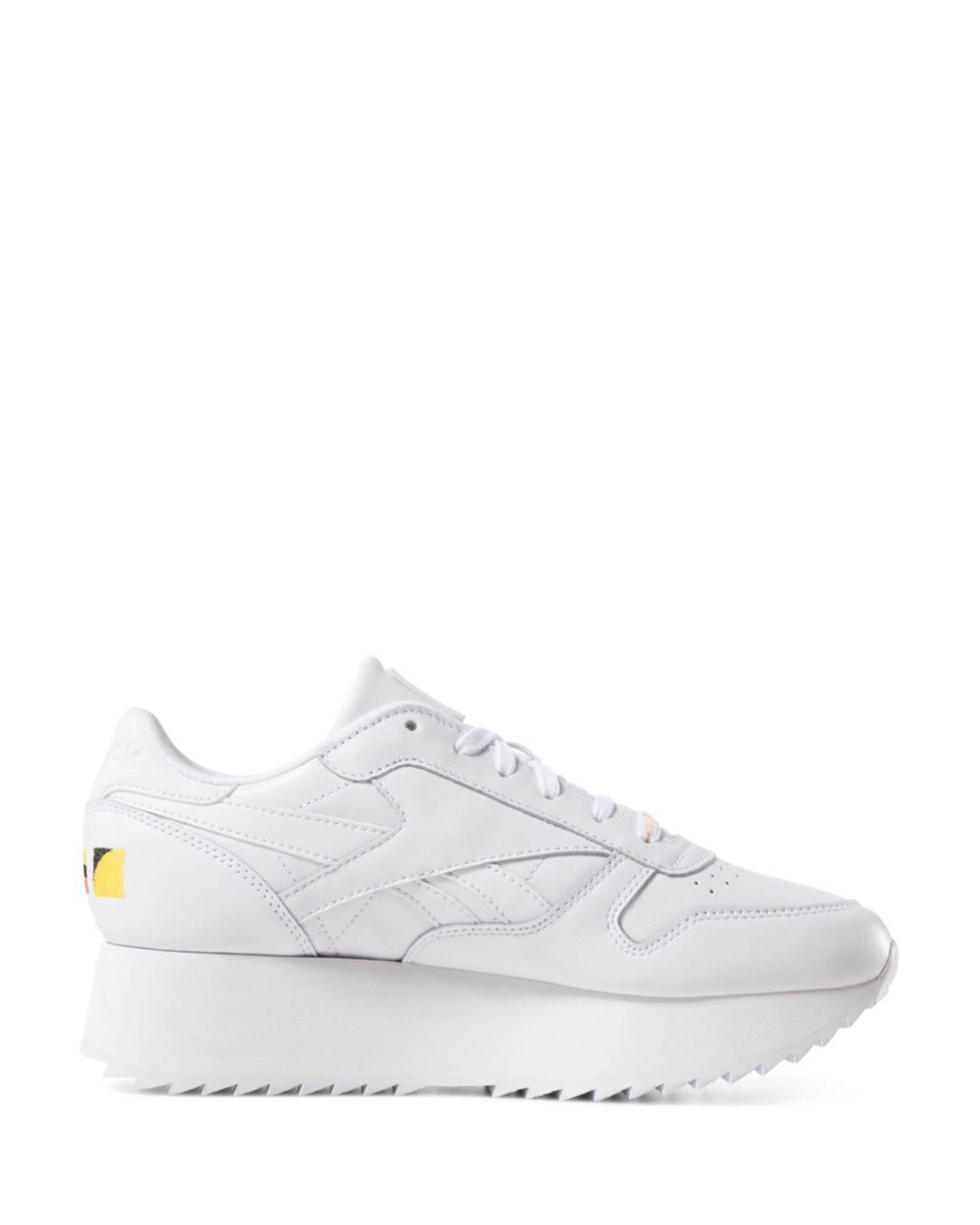 d28a3b6025a51 Lyst - Reebok X Gigi Hadid Women s Classic Leather Double Sneakers in White