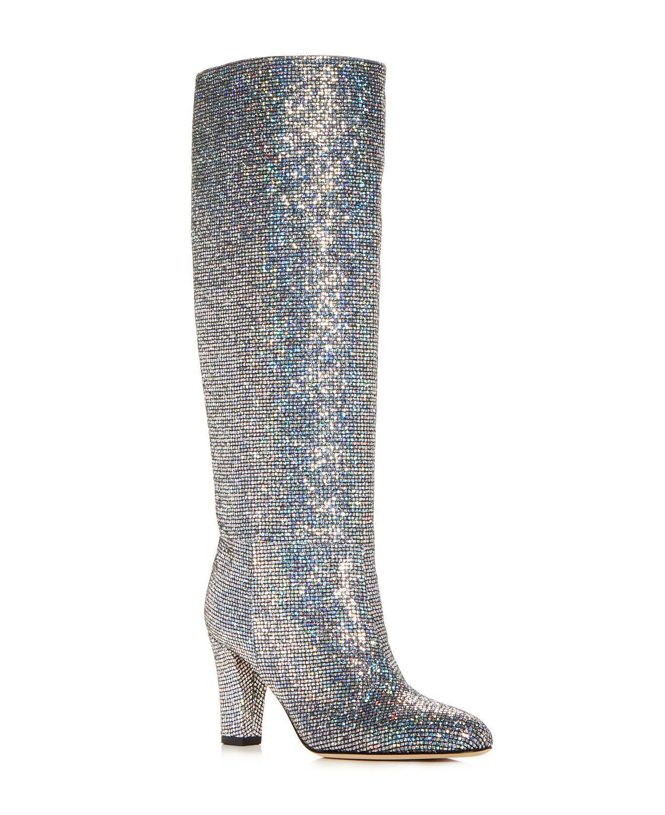 Sjp Women's Studio Glitter High-Heel Boots m52Fadl