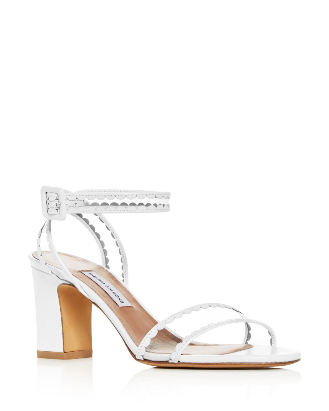 a17b9791bde Tabitha Simmons. White Women s Leticia Scallop Trim High-heel Sandals