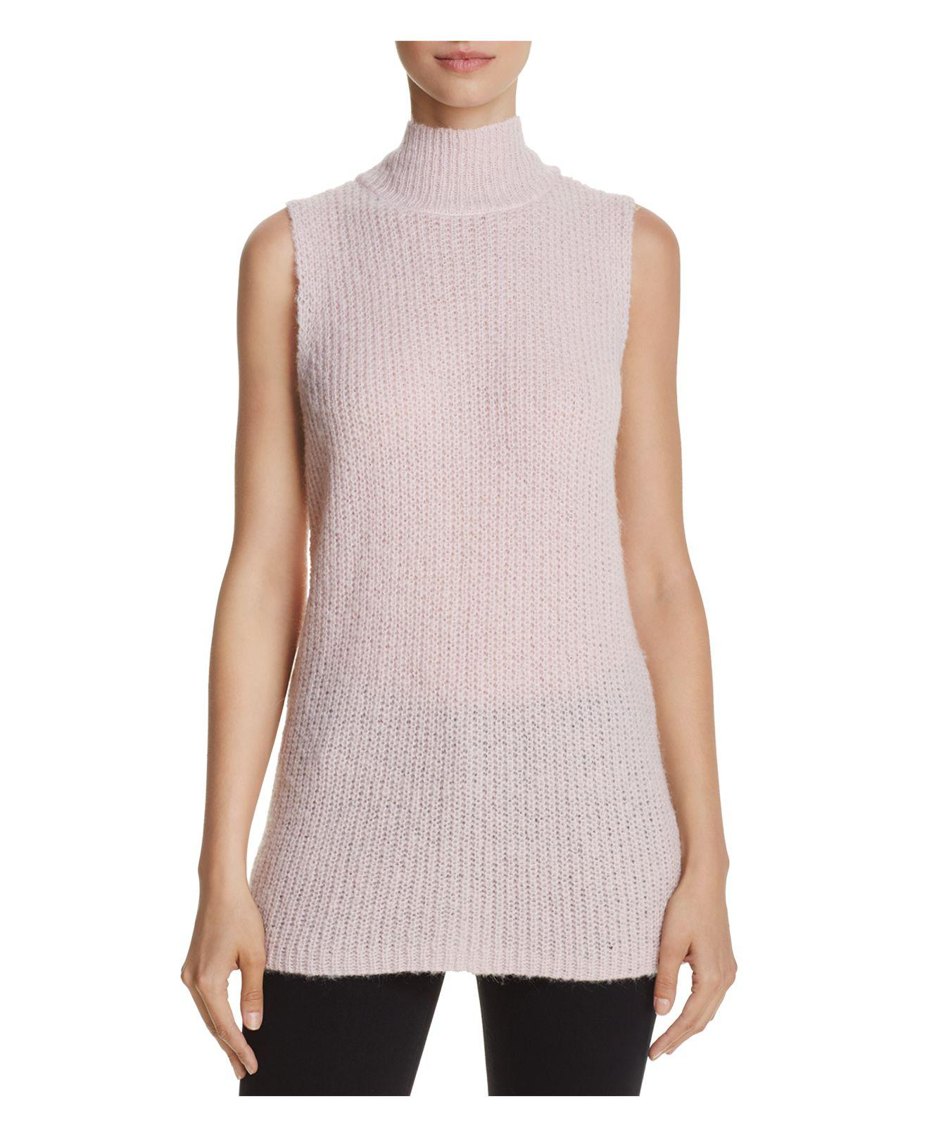 French connection Mathilde Knits Ribbed Sweater Vest in Pink | Lyst