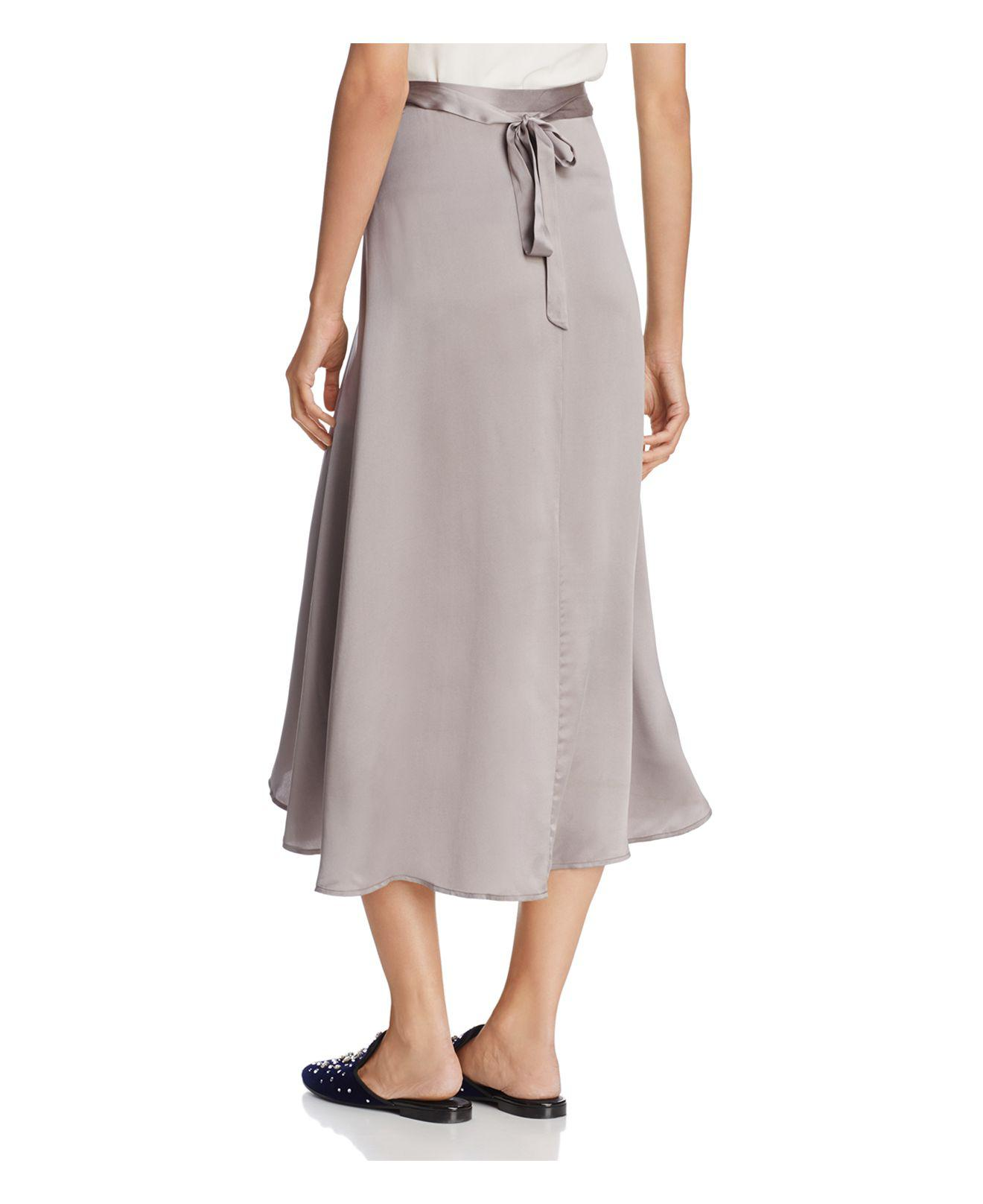 modern and elegant in fashion wide selection of colors quality design Joie Dahoma Silk Wrap Midi Skirt - Lyst
