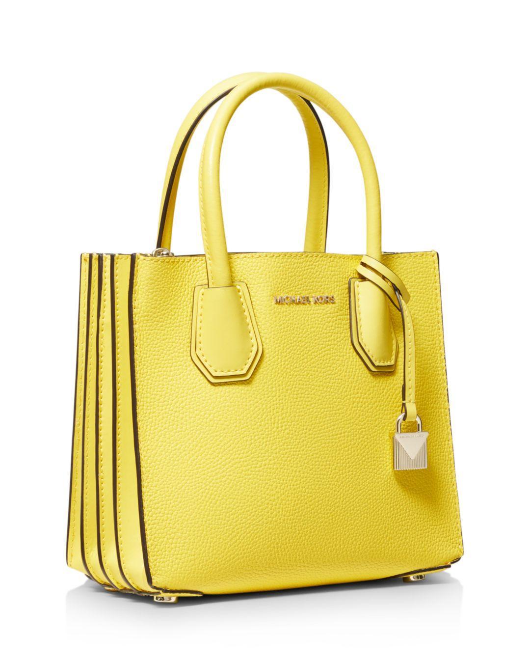 edf8f445b4 MICHAEL Michael Kors Medium Mercer Leather Accordion Messenger Bag in Yellow  - Lyst