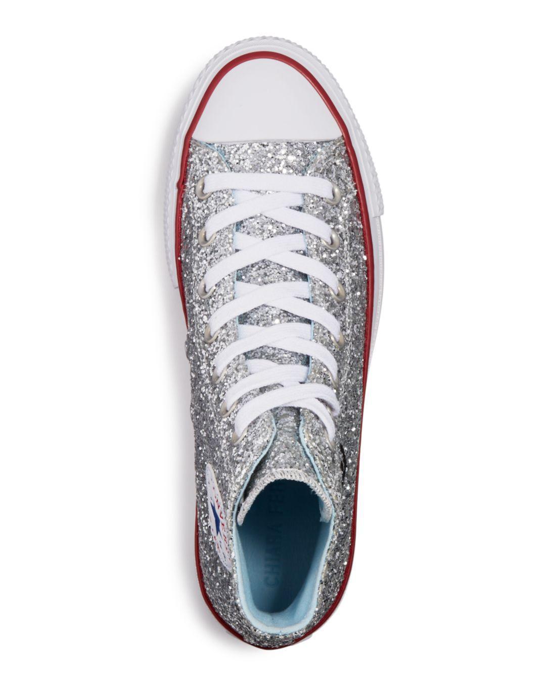 f81495c4f81 Lyst - Converse X Chiara Ferragni Women s Chuck Taylor Glitter High Top  Sneakers in Metallic - Save 9%