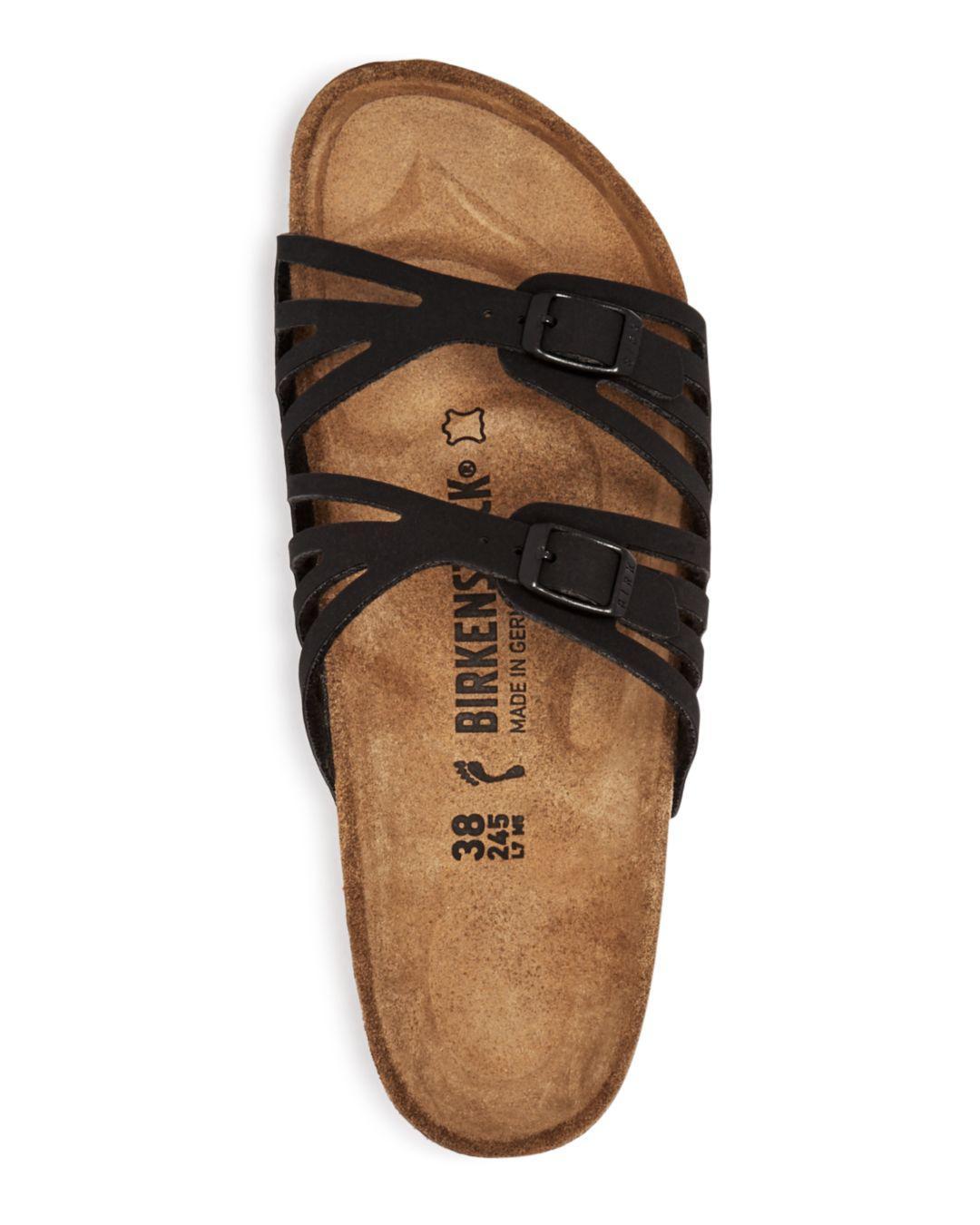5b4dd22ac3a4 Lyst - Birkenstock Women s Granada Cutout Slide Sandals in Black