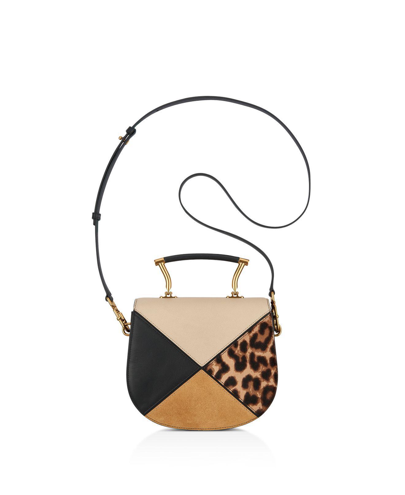 dcdb730e3f59 Anne Klein Top Handle Calf Hair & Leather Saddle Bag - Lyst