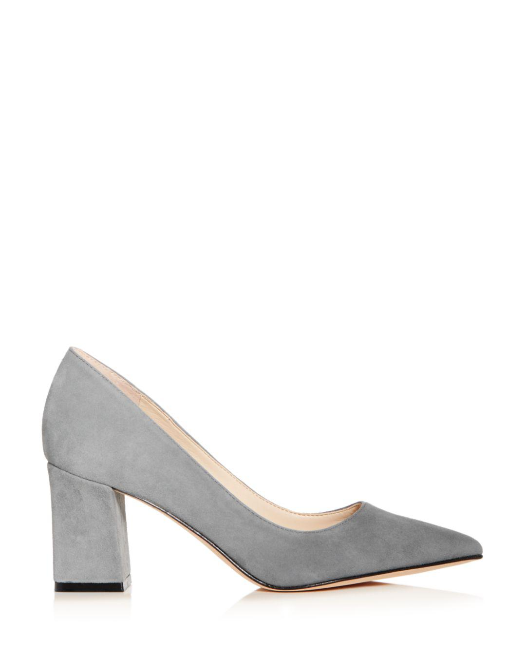 57da991e6af Marc Fisher Zala Suede Pointed Toe Pumps in Gray - Save 3.125% - Lyst