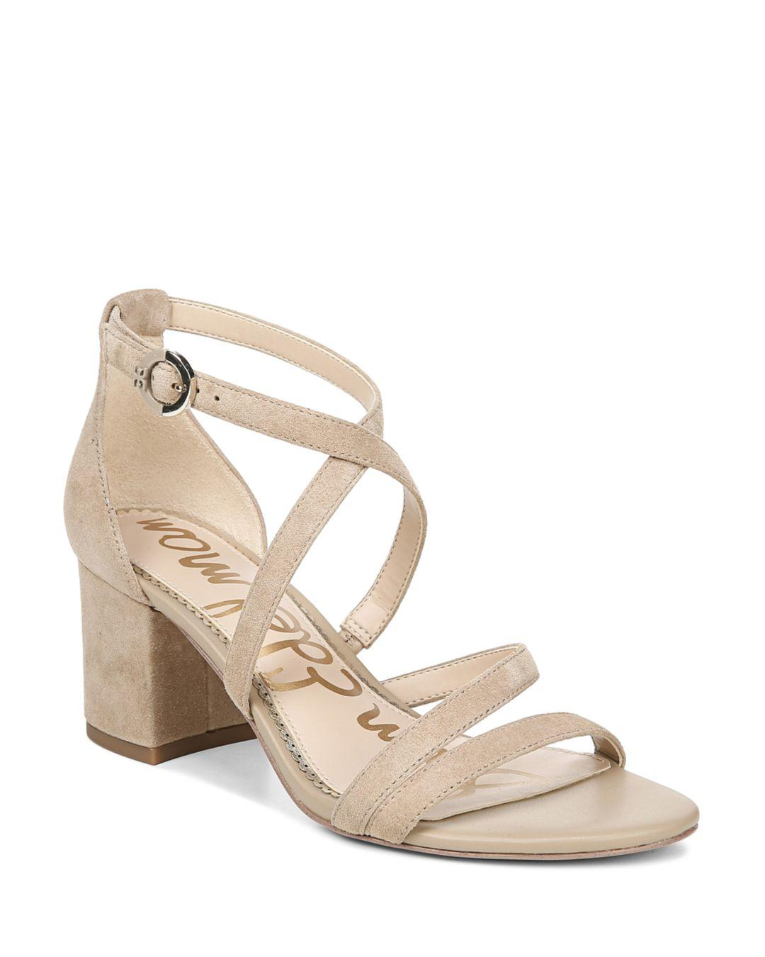 6fdfb4f11 Lyst - Sam Edelman Women s Stacie Block-heel Sandals in Natural