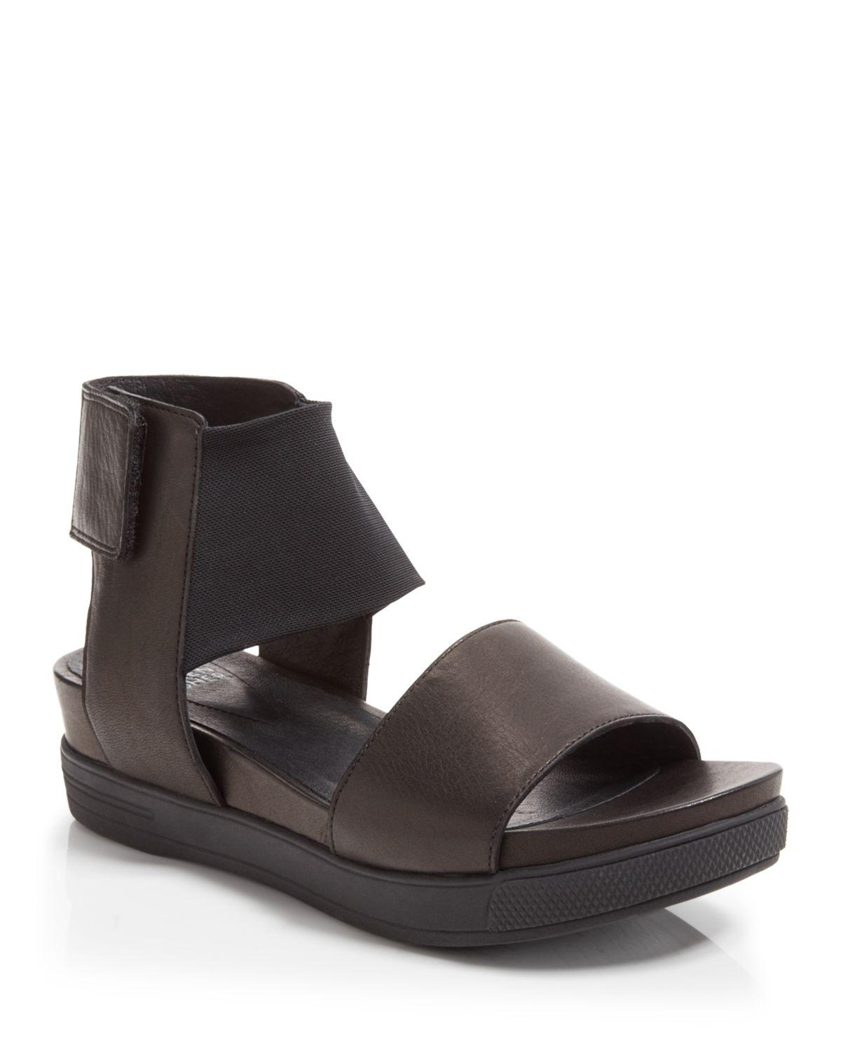 216a423cd6c Lyst - Eileen Fisher Spree Open Toe Ankle Strap Sandals in Black
