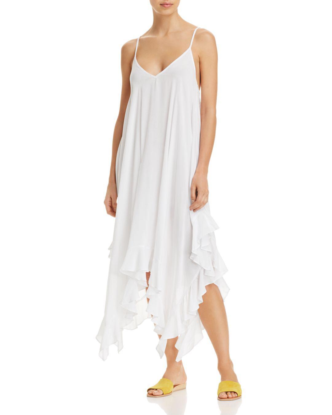 0e665390ad6c3 Lyst - Bleu Rod Beattie Handkerchief-hem Dress Swim Cover-up in White