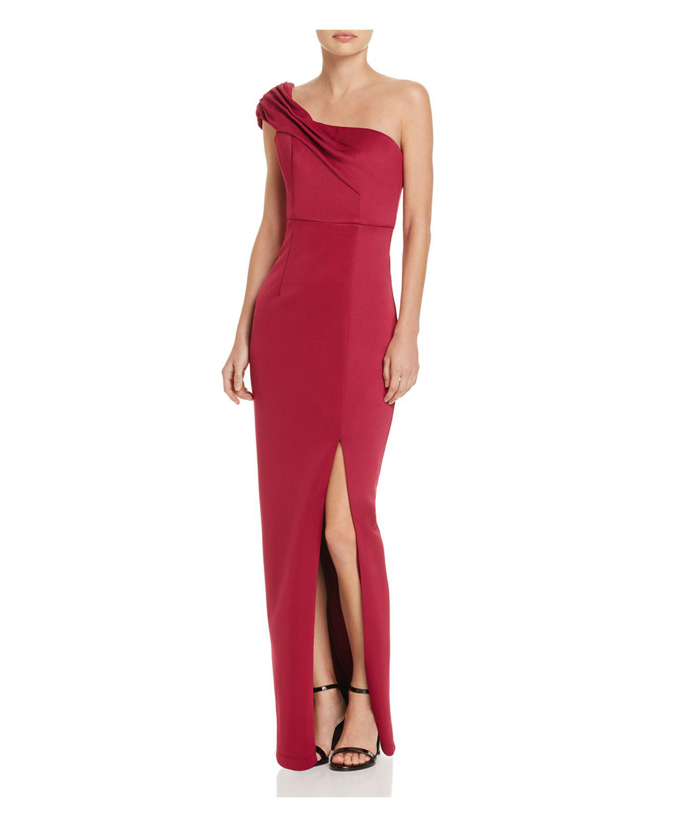 2b3cee2844ab Lyst - Bariano Florence One-shoulder Column Gown in Red
