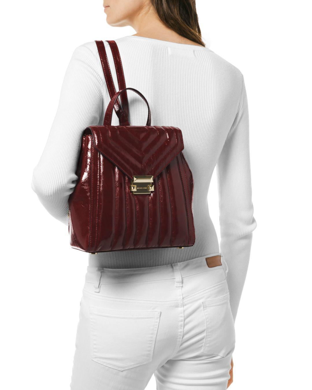 cb8a718308c5 MICHAEL Michael Kors Whitney Medium Leather Backpack in Red - Lyst