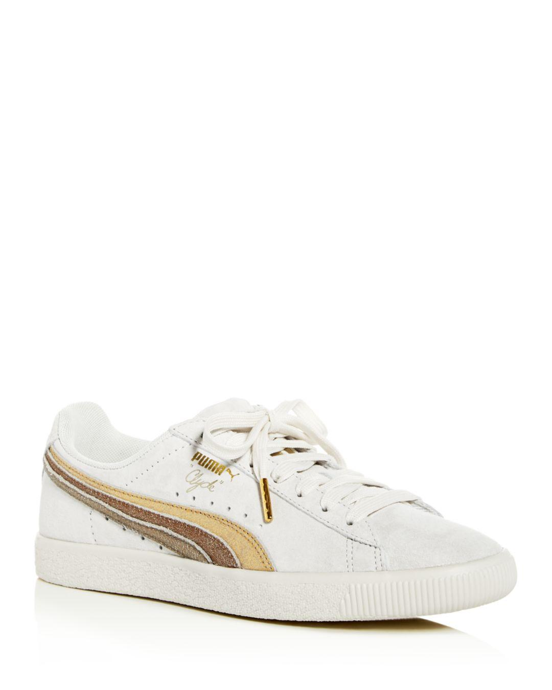 Lyst - PUMA Women s Clyde Low-top Sneakers in White 3a2309d20