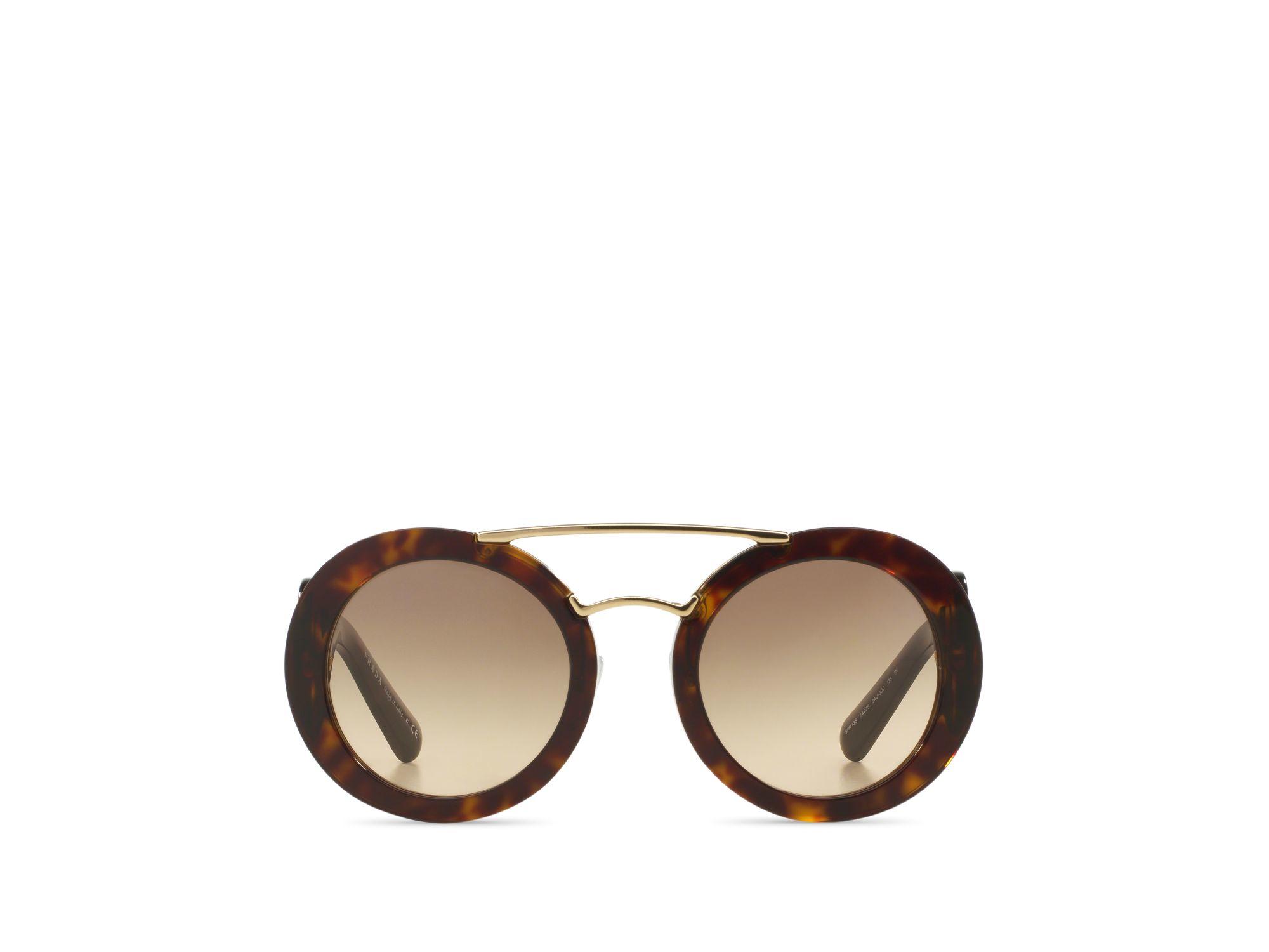 7808a2f8426 Prada Round Black Baroque Sunglasses