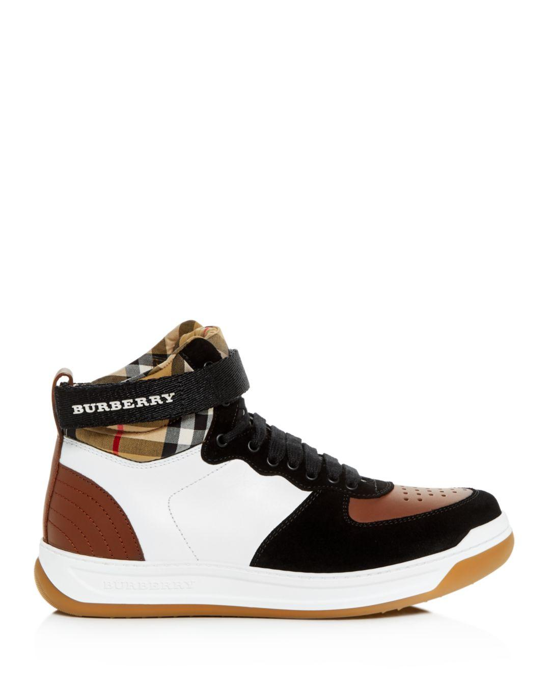 Lyst - Burberry Women s Dennis Vintage Check High-top Sneakers 4b569c8f4a2