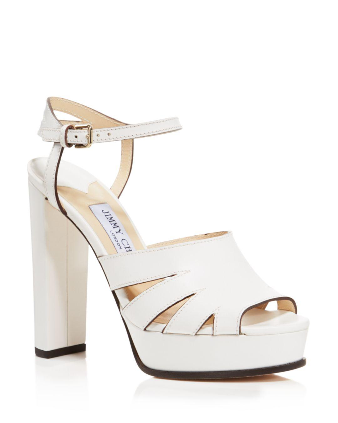 ca81ff0f013 Lyst - Jimmy Choo Women s Hermione 120 Leather Platform High-heel ...