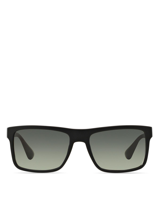 b07a915c09 Prada Rectangle Brushed Matte Sunglasses