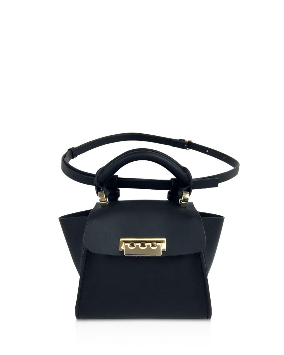 66b45a1a07d3 Lyst - Zac Zac Posen Eartha Iconic Convertible Mini Leather Top Handle Belt  Bag in Black