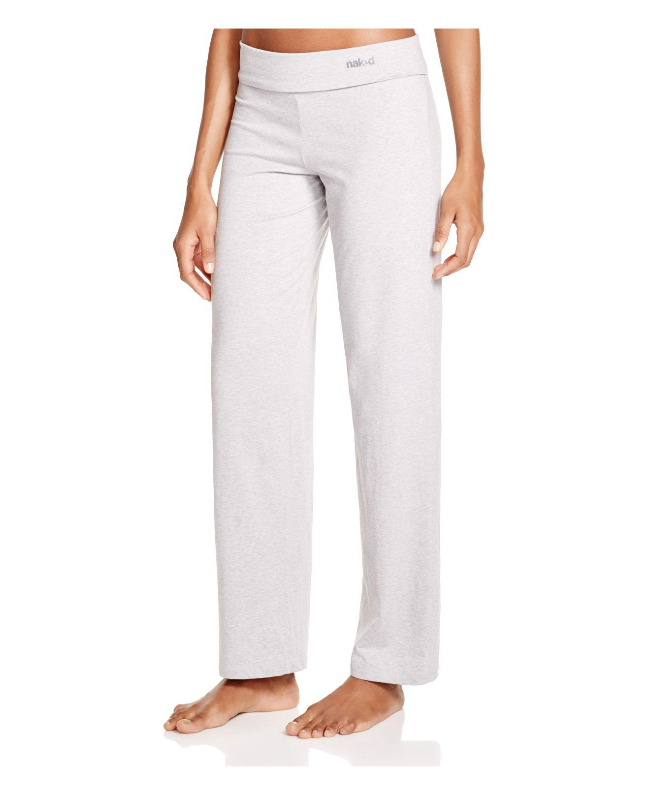 Naked Stretch Jersey Yoga Pants In Gray  Lyst-8900
