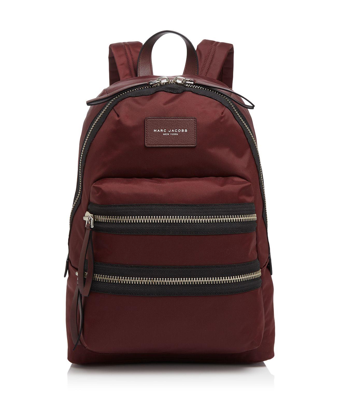 marc jacobs nylon biker backpack in red rubino lyst. Black Bedroom Furniture Sets. Home Design Ideas