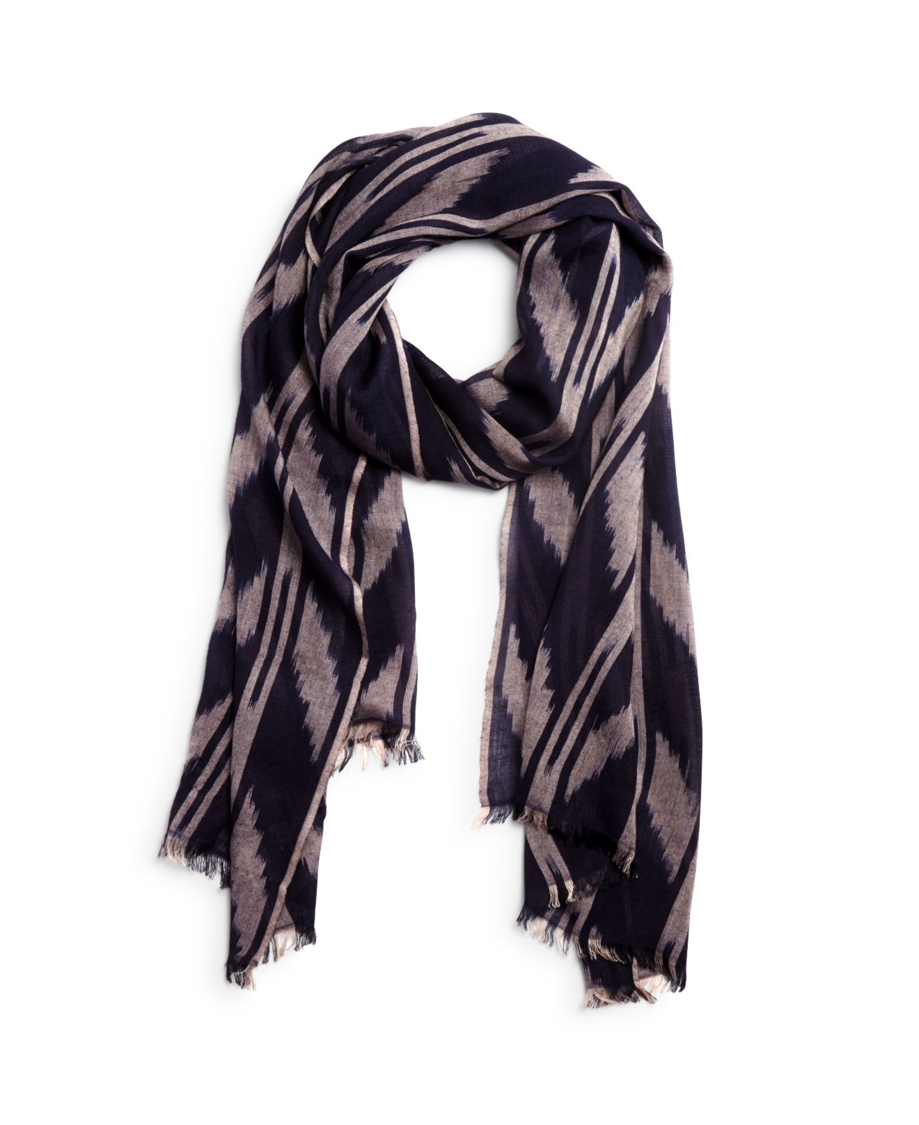 carr ikat scarf in pink navy lyst