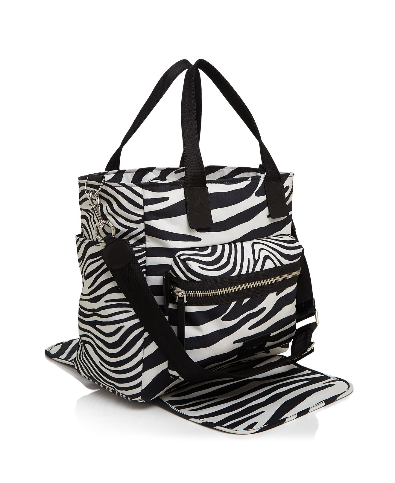 marc jacobs zebra biker diaper bag in black lyst. Black Bedroom Furniture Sets. Home Design Ideas