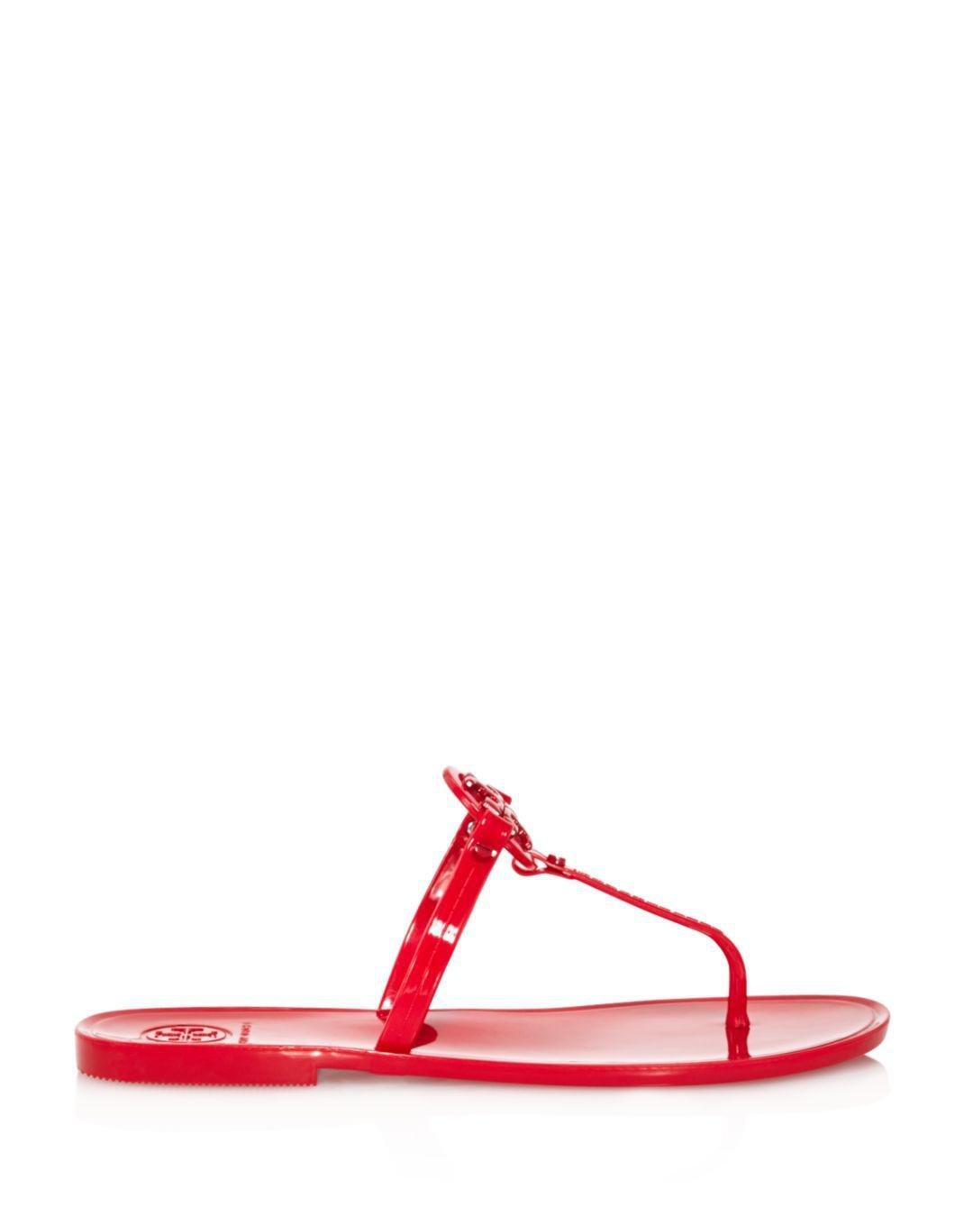 a1e7b352b Lyst - Tory Burch Women s Mini Miller Thong Sandals in Red