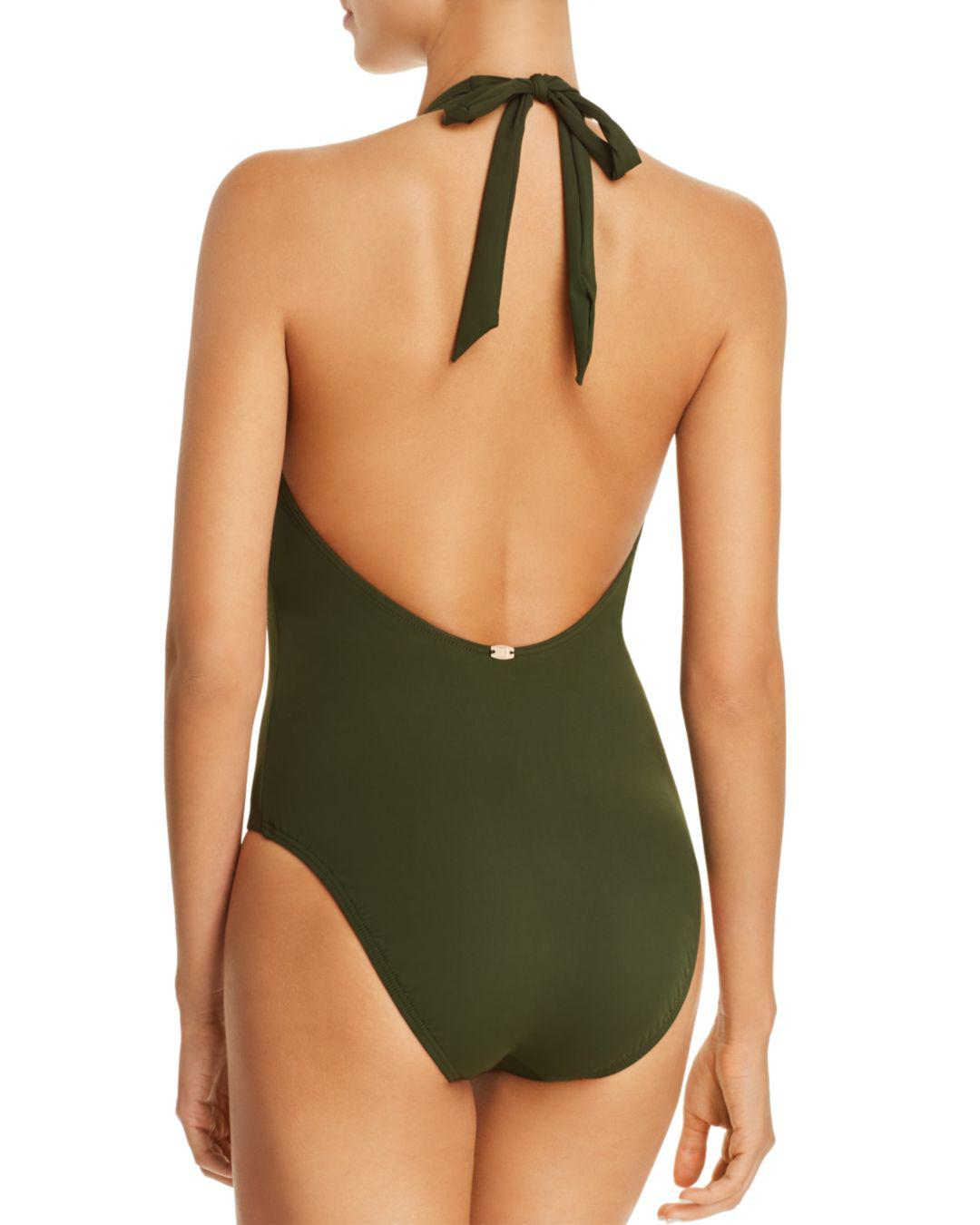 5ab358792ed9 Lyst - Miraclesuit Laura Mars Bianca One Piece Swimsuit in Green - Save 60%