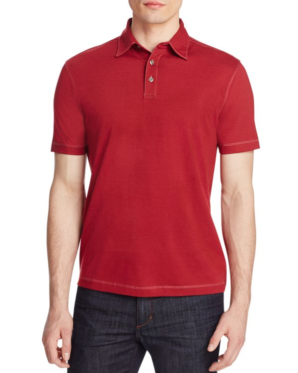 James Campbell Chevron Stripe Classic Fit Polo Shirt