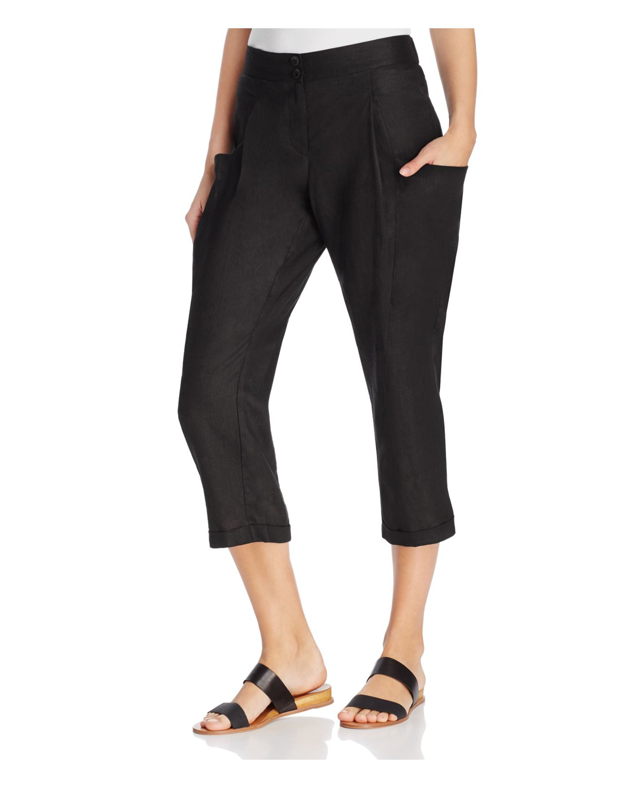 Elegant Sanctuary Women39s Natural Midrise Cropped Cargo Pants