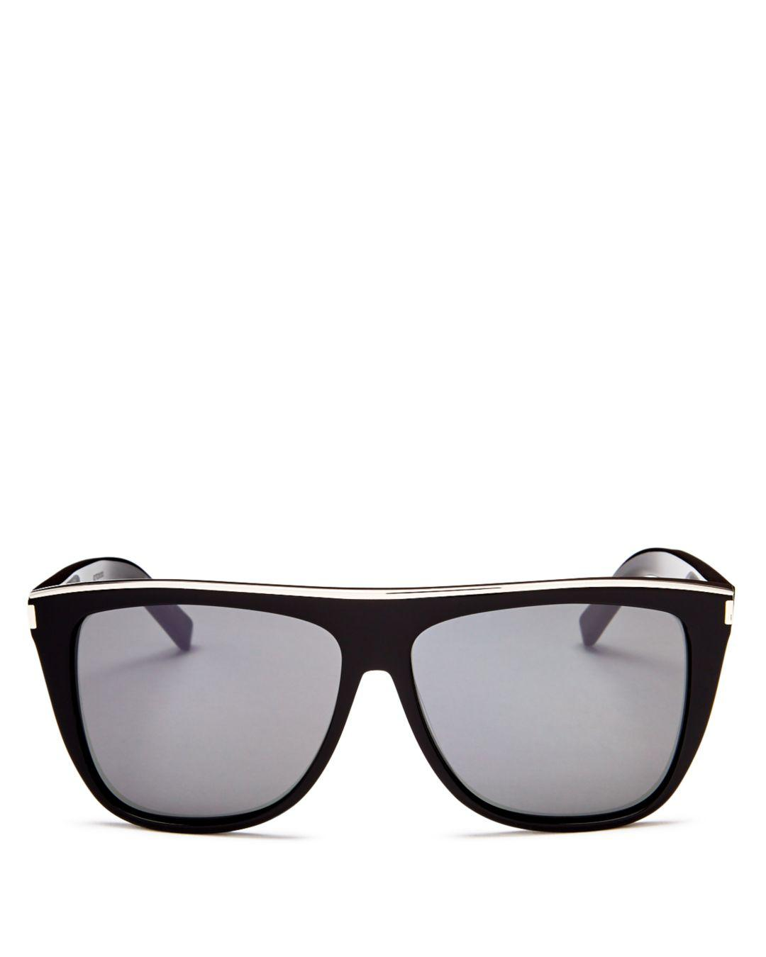 762ec0f461d Saint Laurent Wayfarer Sunglasses in Black for Men - Save ...