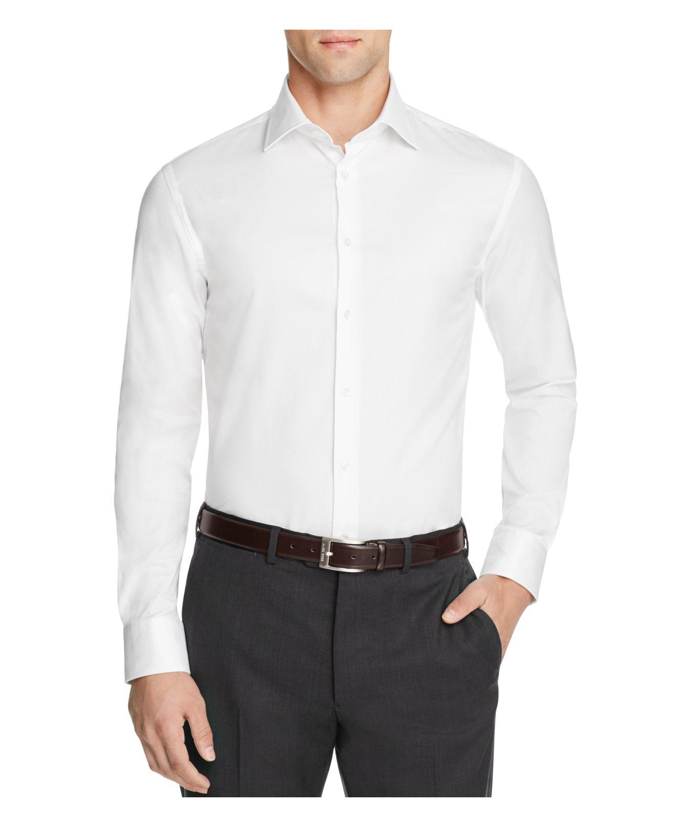 Lyst Armani Armani Slim Fit Button Down Shirt In White