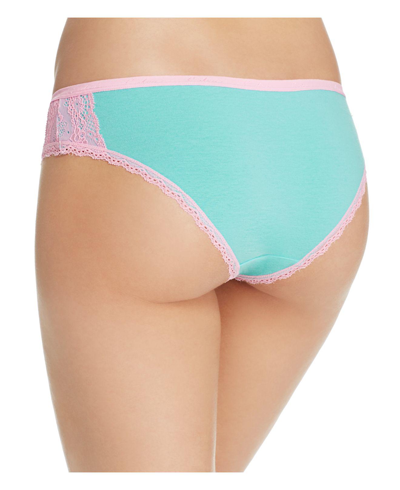 Lyst Honeydew Intimates Jessi Cotton Bikini 590400b In Blue