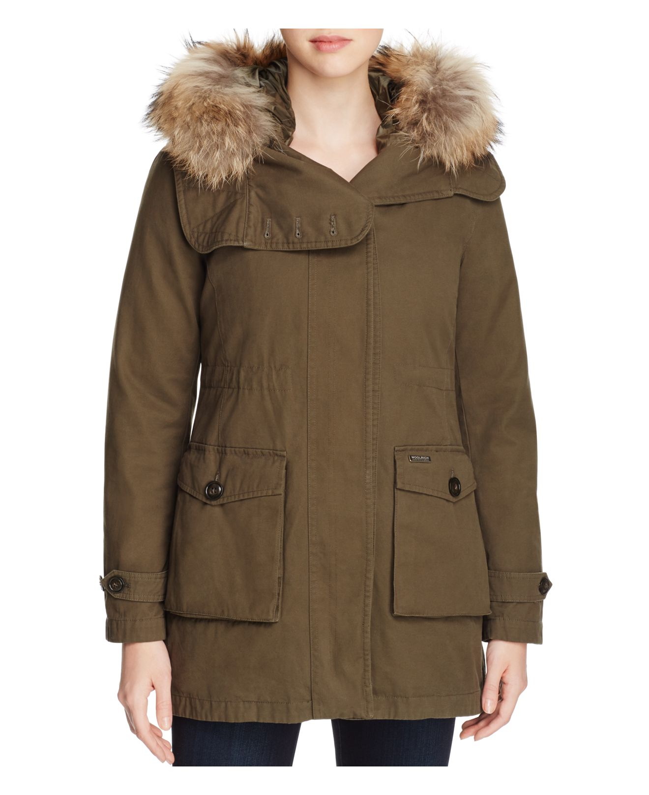 woolrich scarlett eskimo 2 in 1 anorak in green lyst. Black Bedroom Furniture Sets. Home Design Ideas