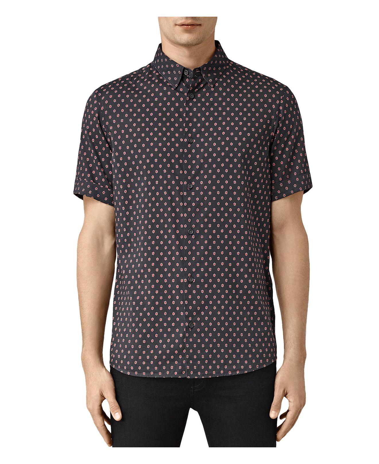 Lyst Allsaints Kapow Slim Fit Button Down Shirt For Men