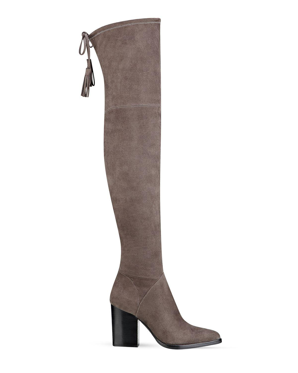 a6d583d6ed4 Lyst - Marc Fisher Alinda Suede Over-The-Knee Boots in Brown