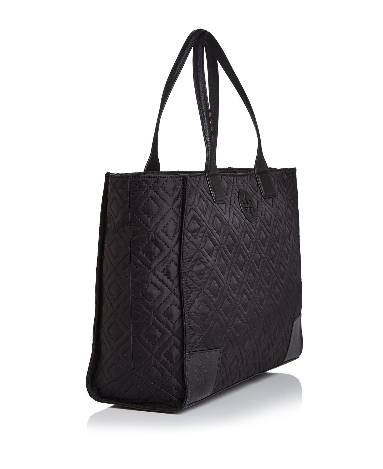 Lyst Tory Burch Ella Quilted Tote In Black