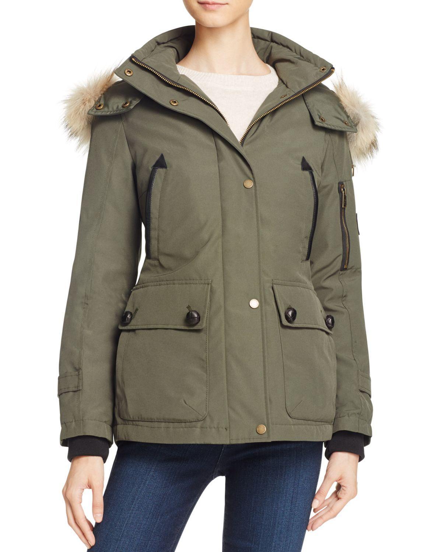 Pendleton Bachelor Fur Trim Down Coat In Green Lyst