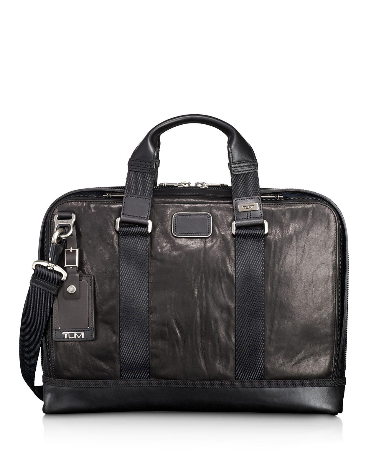 Lyst - Tumi Alpha Bravo Andrews Slim Leather Briefcase in ...